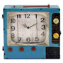Signee - Pendule et boîte à clefs en forme de Télévision ancienne