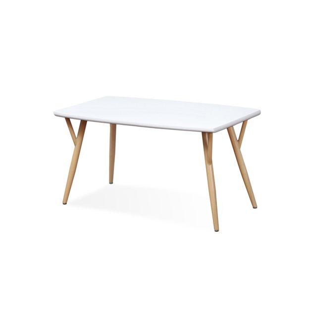 Table scandinave Mya Blanc - 4 à 6 personnes