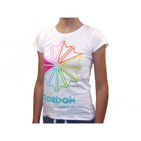 92e8c93b48c23 Reebok - Ss T-shirt Blc - Tee Shirt Fille - pas cher Achat   Vente Tee  shirt homme - RueDuCommerce