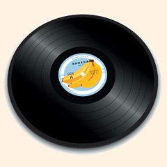 Joseph Joseph Dessous De Plat Rond En Verre 30 Cm - Banana Vinyl