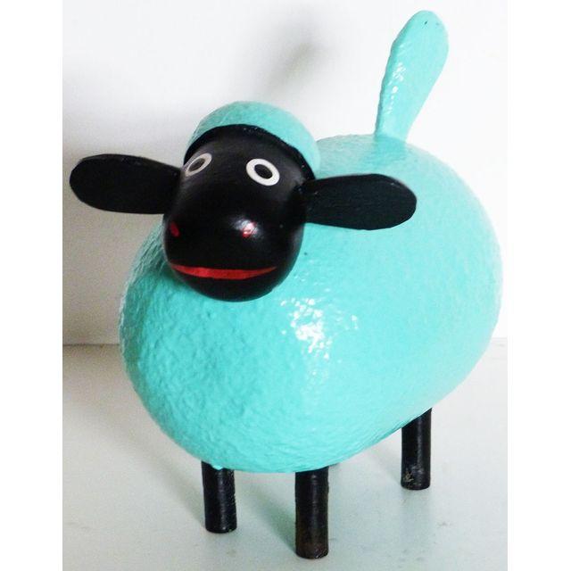 Les Animaux De La Fee Mouton déco Color taille M Bleu