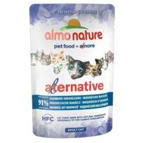 Almo Nature - Pochon Alternative Bouillon de Maquereau d'Indonésie pour Chat - 55g