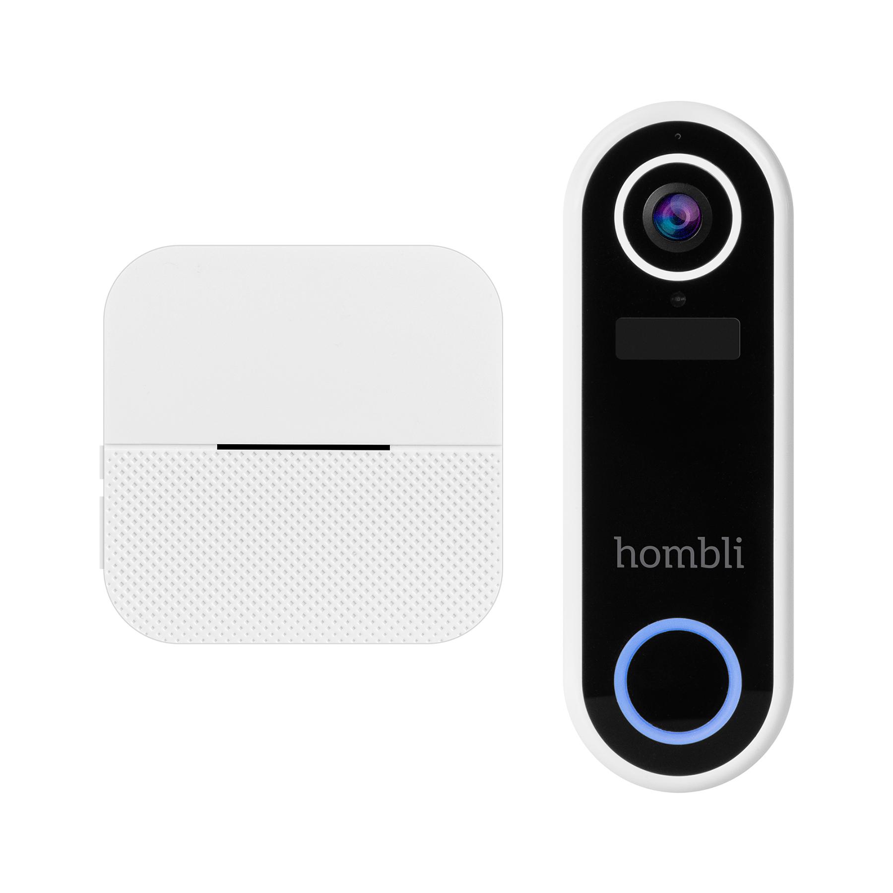Pack sonnette connectée 1080p + Carillon Smart Doorbell Hombli