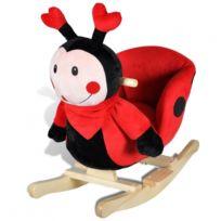 Autre - Siège fauteuil chaise à bascule enfant jouet tissu rouge 0102020