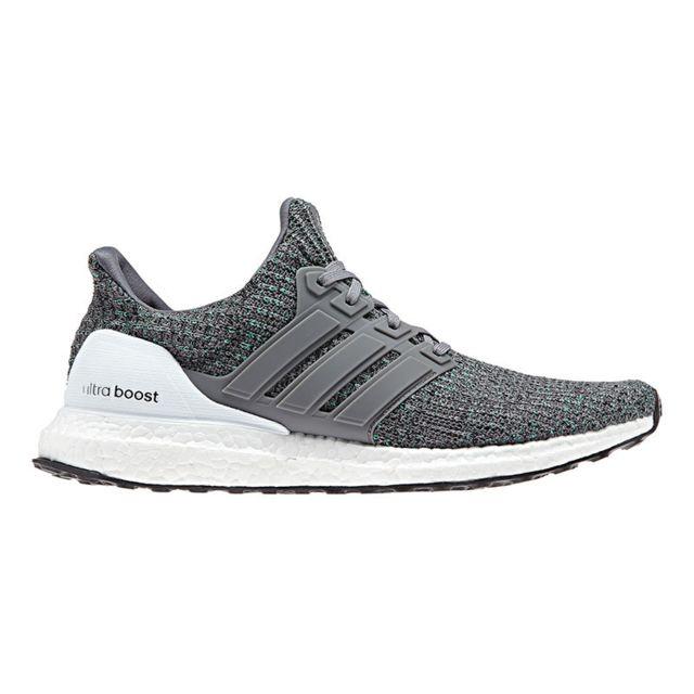 Adidas Chaussures Ultra Boost gris clair blanc noir pas