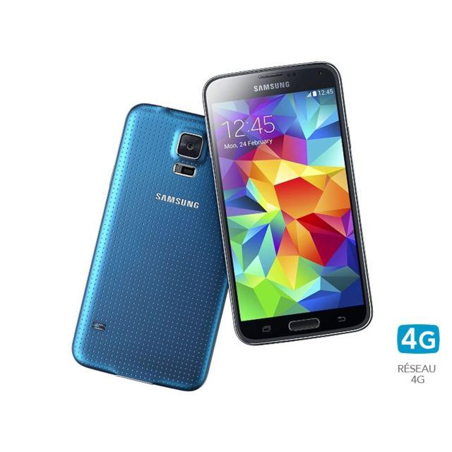 Samsung - Galaxy S5 Bleu 16 Go