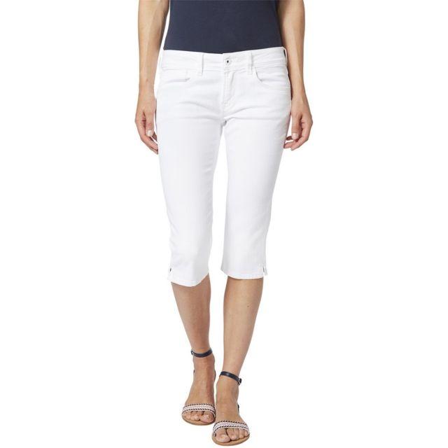Pepe Jeans Bermuda en jean Saturn Crop Stone used pas