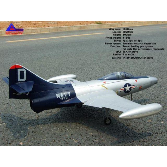 RCLANDER F9F Panther TB EPO ARF F9F Panther TB EPO ARF+ Le Grumman F9F Panther est un avion de chasse à réaction américain conetccedil,u à la fin des années 1940. Destiné à etecirc,tre embarqué à bord de porte-avions, il a été utilisé au combat pendant la