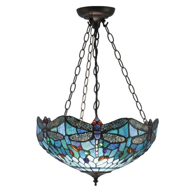 Interiors 1900 Suspension inversée 41 cm Dragonfly Blue