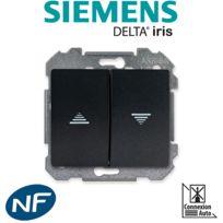 Siemens - Interrupteur pour volet roulant Anthracite Delta Iris