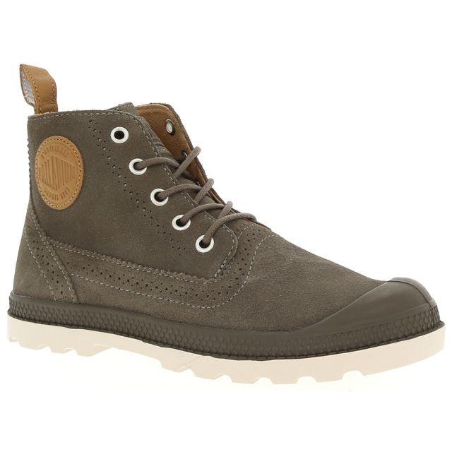 861ead480955 Palladium - London Lp Mid W - pas cher Achat   Vente Chaussures de ville  femme - RueDuCommerce