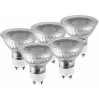 Luceco - Lot de spots Led non gradable - culot Gu10 - 5 watts - 2700 k - Glass
