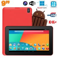 Yonis - Tablette tactile 9 pouces Android 4.4 Bluetooth Quad Core 16Go Rouge