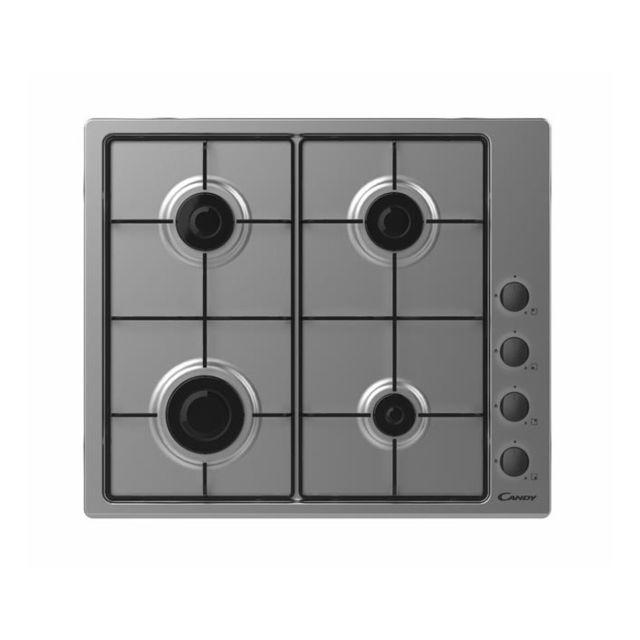 CANDY table de cuisson à gaz 59.5cm 4 feux noir - chw6lbx