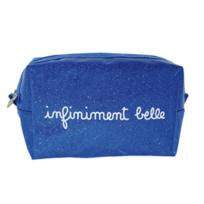 Decoetdesmots - Trousse à Maquillage Bleue à Paillettes - Infiniment Belle