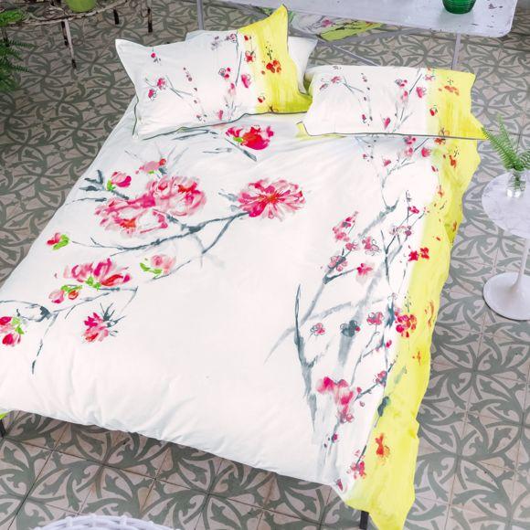 Designers guild housse de couette satin de coton oriental flower multicolore 140 x 200 cm - Housse de couette orientale ...