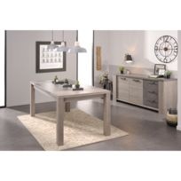 Altobuy - Beth - Ensemble Table + Buffet 2 Portes 3 Tiroirs