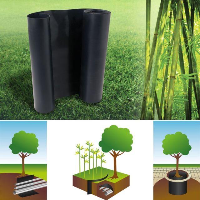 Idmarket Barrière anti-racines bambou 5m 800gr anti-rhizomes