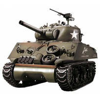 HENG-LONG - Char US M4A3 Sherman 1/16 RTR 2.4Ghz Sons/Fumée/billes
