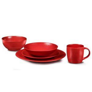 Medard de noblat service de table 30 pi ces stone rouge - Carrefour vaisselle de table ...