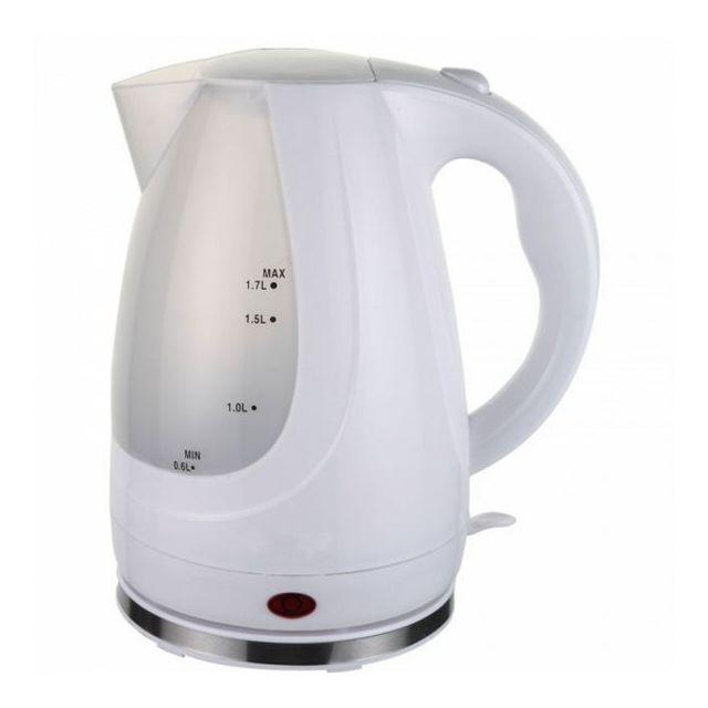 Totalcadeau Bouilloire blanc 1,7 L 2300W - Chauffer l'eau ultra rapide thé