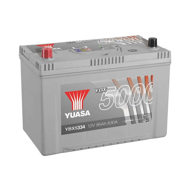 yuasa batterie ybx5334 silver 12v 95ah 830a pas cher achat vente batteries rueducommerce. Black Bedroom Furniture Sets. Home Design Ideas