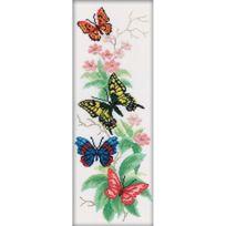 Rto - Rtm146 Kit Pour Point De Croix ComptÉ Motif Bouquet De Papillons 1 45 X 16 Cm