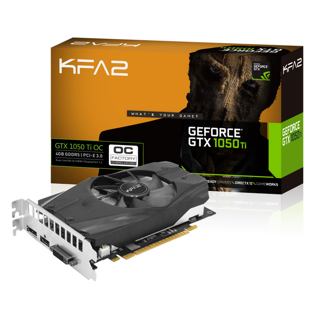 GeForce GTX 1050 Ti OC 4 Go