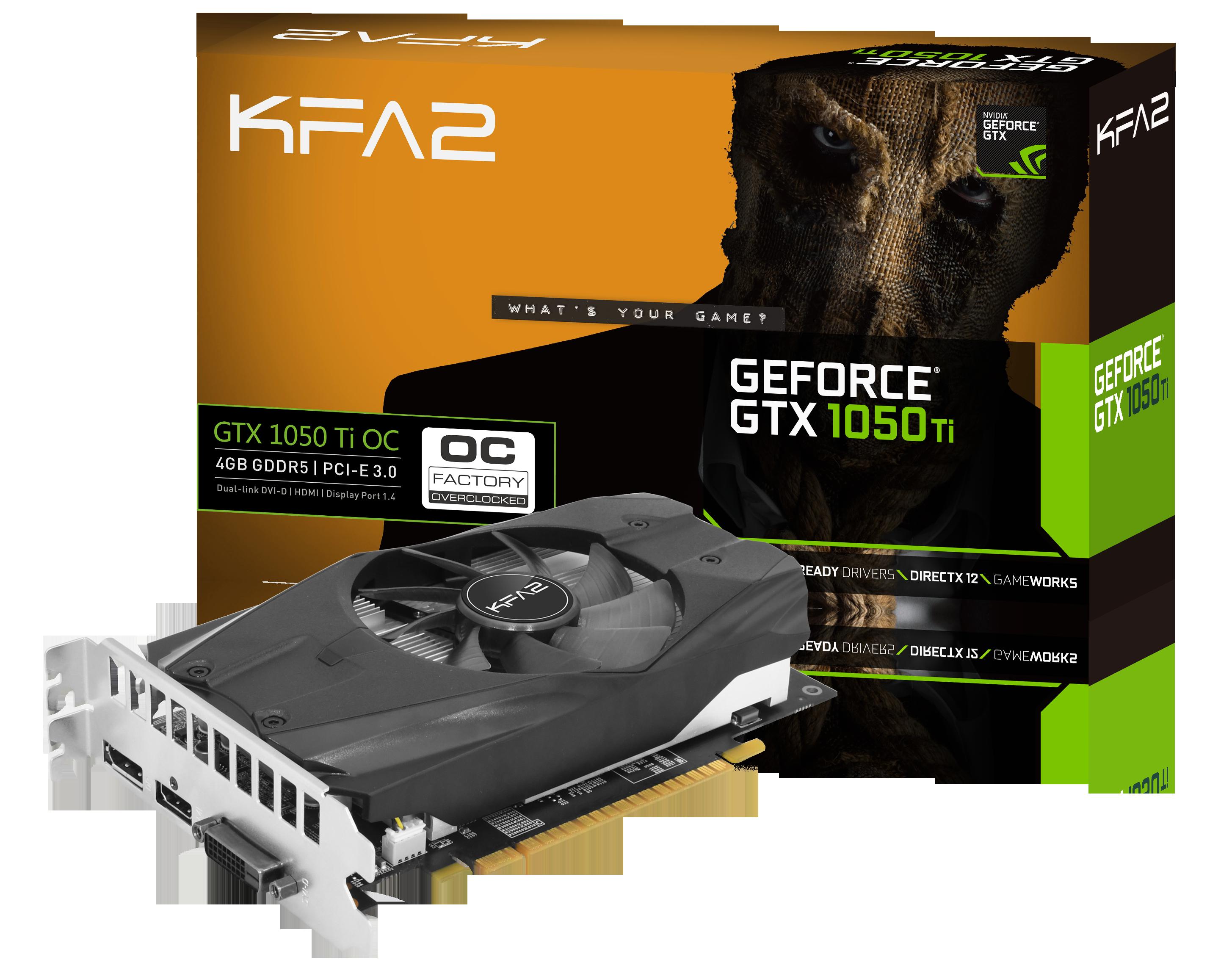 GeForce GTX 1050 Ti OC 4 Go
