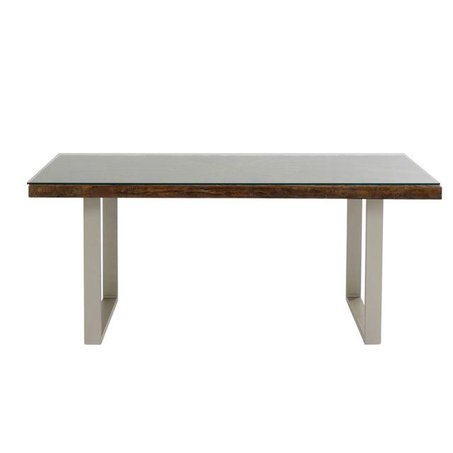 Karedesign Table Conley pieds argentés 180x90cm Kare Design