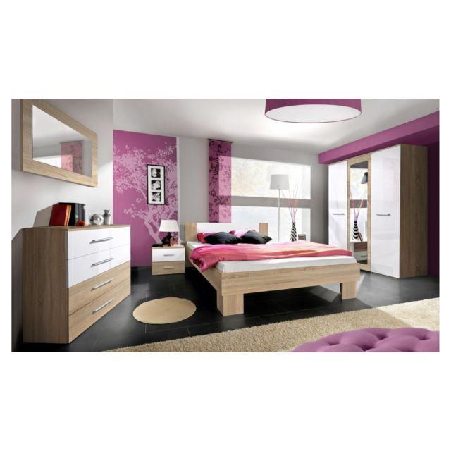 Justyou - Vicka Ii 160 Meubles chambre a coucher Blanc - pas ...