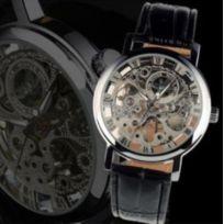Chic And Watch - Montre Homme Mecanique Squelette Automatique Bracelet cuir watch acier noir luxe