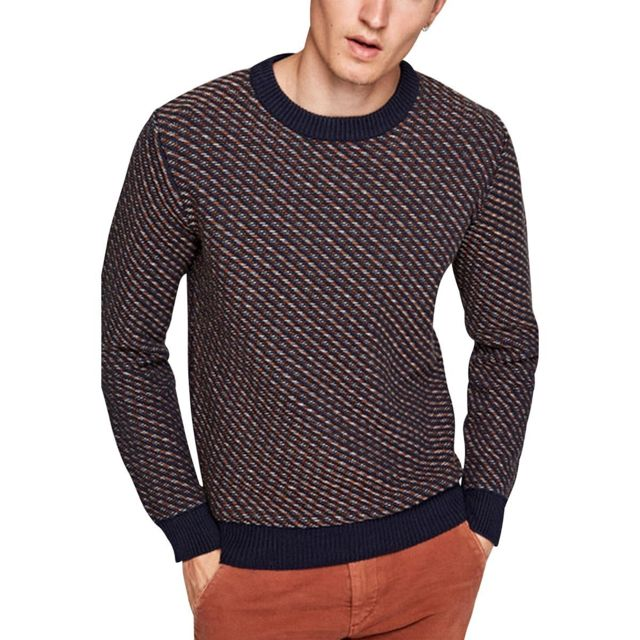 778facc6039f Pepe Jeans - Pull Picadilly Bleu marine - pas cher Achat   Vente Pull homme  - RueDuCommerce