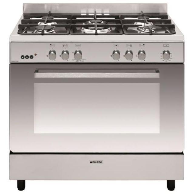 GLEM piano de cuisson gaz 109l 5 feux inox - ge960cmix2