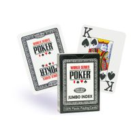 World Series Of Poker - Cartes Wsop Poker / Jumbo noir