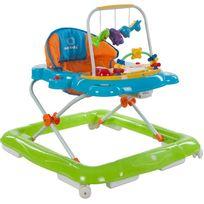 Sun Baby - Trotteur interactif jouets sons lumières bébé 6-12 mois Petit Chat | Orange et Vert
