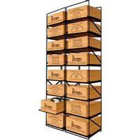 Modulorack - La seule solution pour stocker 16 caisses de vins et 192 bouteilles - Aci-mod512V