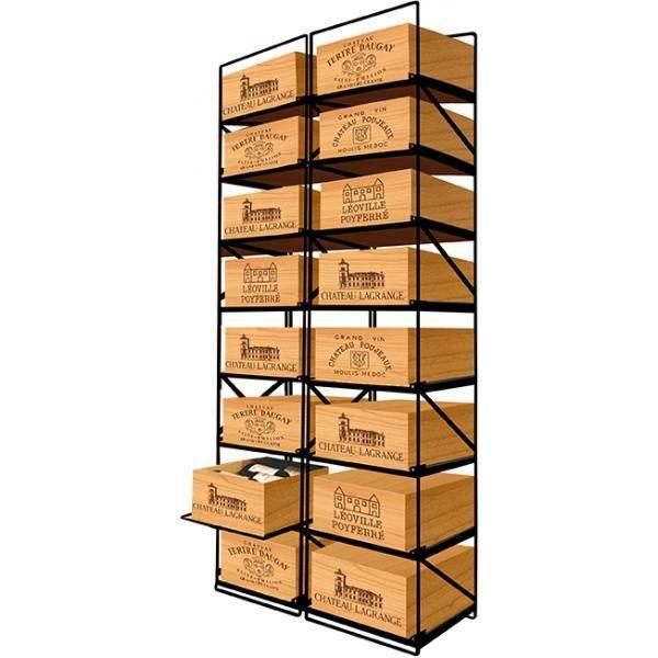 Modulorack La seule solution pour stocker 16 caisses de vins et 192 bouteilles - Aci-mod512V