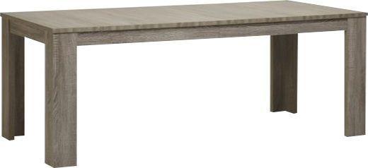 Comforium Table extensible de salle à manger contemporaine 160 cm coloris mara