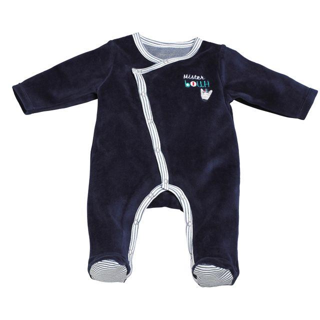 Sauthon - Pyjama bébé bleu naissance Mister Bouh - pas cher Achat ... 811672c77ee