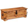 Rocambolesk - Superbe Coffre de stockage en bois brut de manguier Neuf