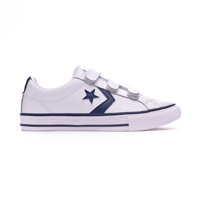 279def55ab720 Converse - Basket Jr Star Player 3V Ox White-Navy Taille 33 - pas cher Achat    Vente Baskets homme - RueDuCommerce