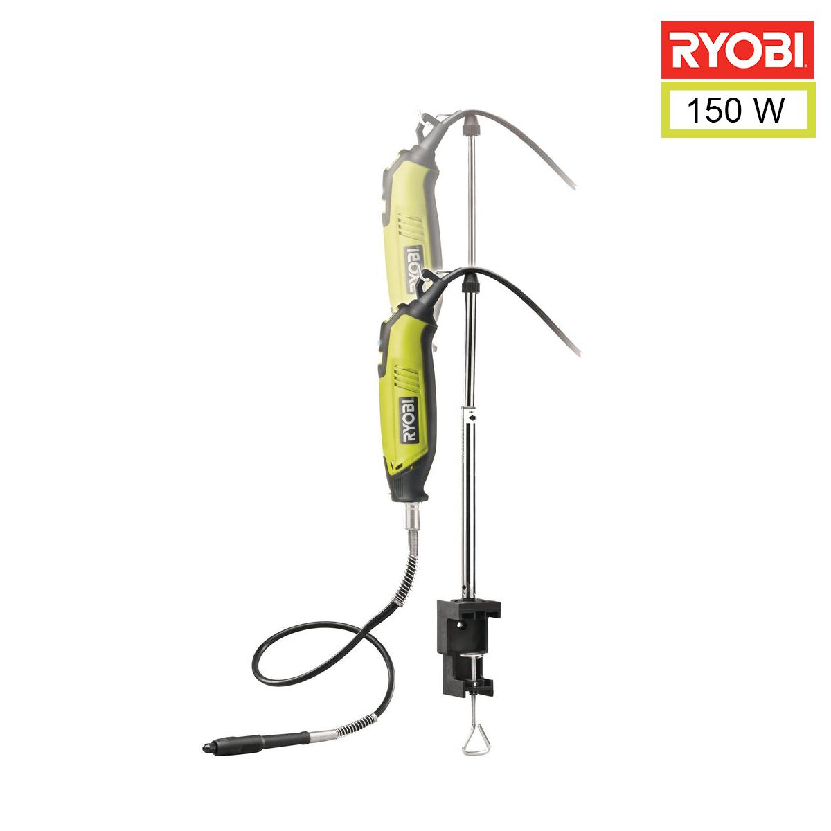 Coffret outils multifonctions 150W - 115 accessoires - arbre flexible - support télescopique EHT150V