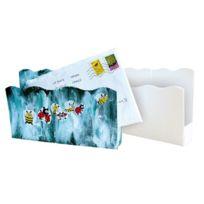 Gribouill'ART - range courrier en carton blanc à décorer - lot de 10