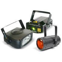 Beamz - Set de moonflower + lazer rouge et vert + strobe 150W - Pack lumière