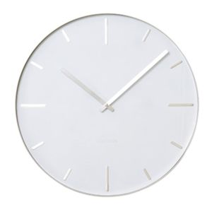 present time horloge belt blanc 40 cm pas cher achat vente horloges pendules rueducommerce. Black Bedroom Furniture Sets. Home Design Ideas