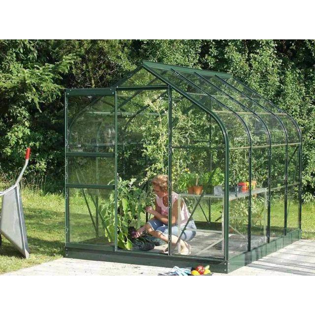 LAMS - Serre de jardin en verre Orion 5 m² + Base - Vert - pas cher ...