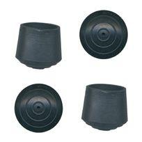 Pvm - Embout enveloppant caoutchouc noir - Diam. 16 mm - Par 4
