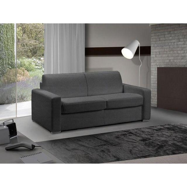 inside 75 canap lit 2 places master convertible ouverture rapido 120 cm microfibre gris. Black Bedroom Furniture Sets. Home Design Ideas