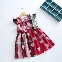 Glareola - Robe imprimée coeur design pour enfants, robe légère pour fille, vêtement pour petite fille de 2 à 12 ans